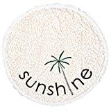 Sunshine Round Roundie Beach Towel & Blanket Beach Throw Tapestry Wall Hanging Yoga Mat