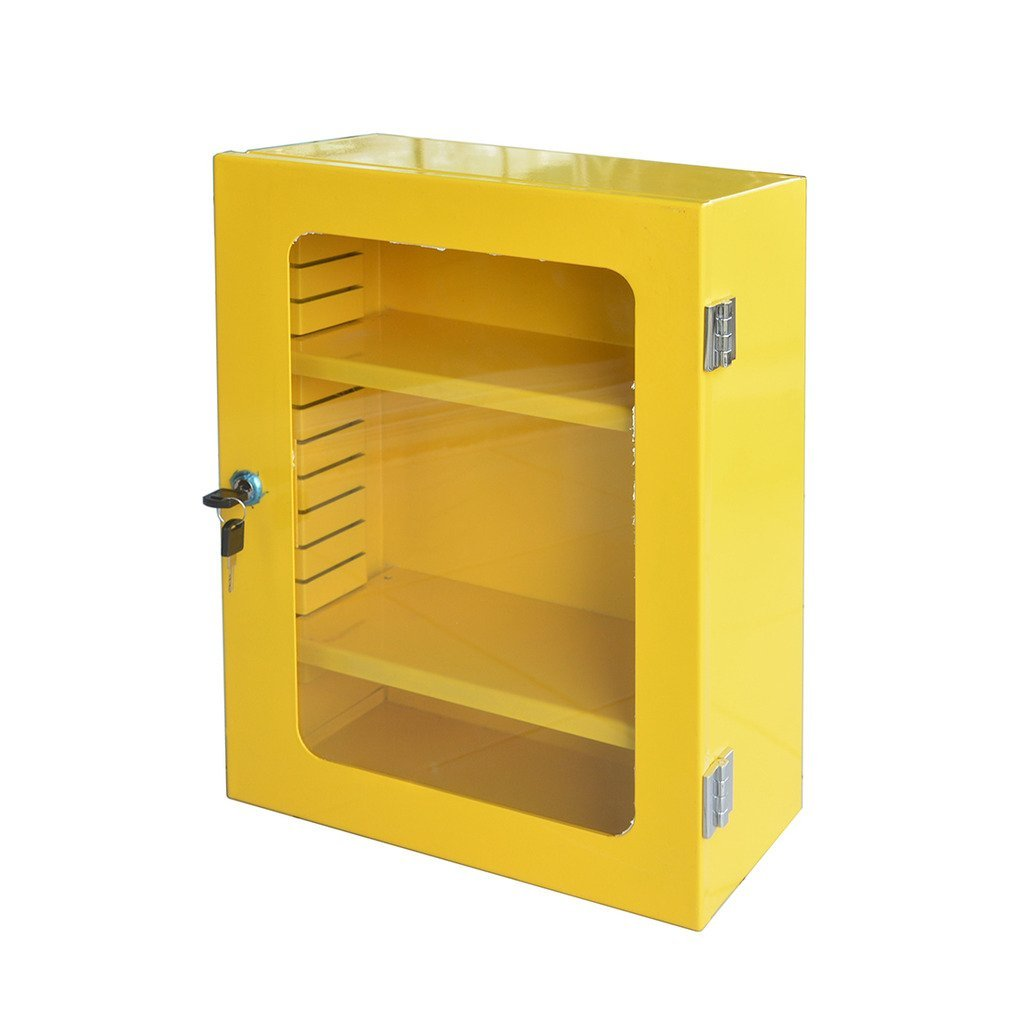 Wotefusi Industrial Security Safety Lockout/Tagout Device Cabinet Yellow