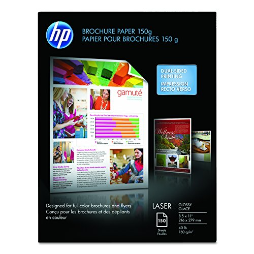 HP Brochure Paper, Glossy, 8.5x11, 150 Sheets