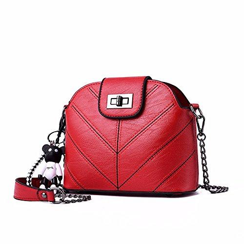 de de Mini Crossbody Las CCZUIML Bolso del Bronce del Hombro rojo Bolso Hombro Bag Mujeres qRaHg4