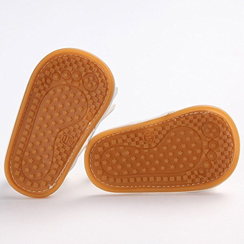 etrack-online bebé niños suela de goma borla an-slip verano Prewalker verano sandalias marrón Suede Deep Brown Talla:12-18month Pu Pink