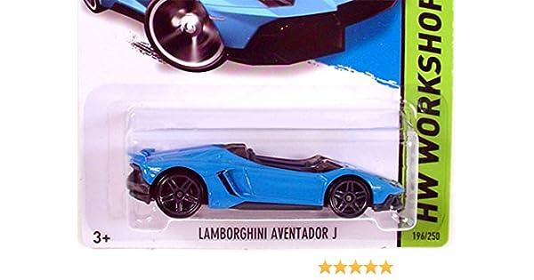 amazoncom 2014 hot wheels hw workshop lamborghini aventador j blue toys games