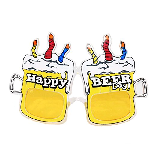 Glass Of Beer Costume - Tinksky Beer Mug Fanci-Frames Novelty Sunglasses Disguised Glasses for Summer Party Props Accessory happy beer day Photo Props party glasses