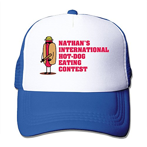 [Candi Men's 2016 Hot Dog Eating Game Hat Sports Cycling Flexfit Size One Size RoyalBlue] (Costume National Boots 2016)