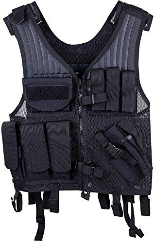 Elite Pistol Vest, Tactical Nylon Mesh, Adjustable Black by Elite