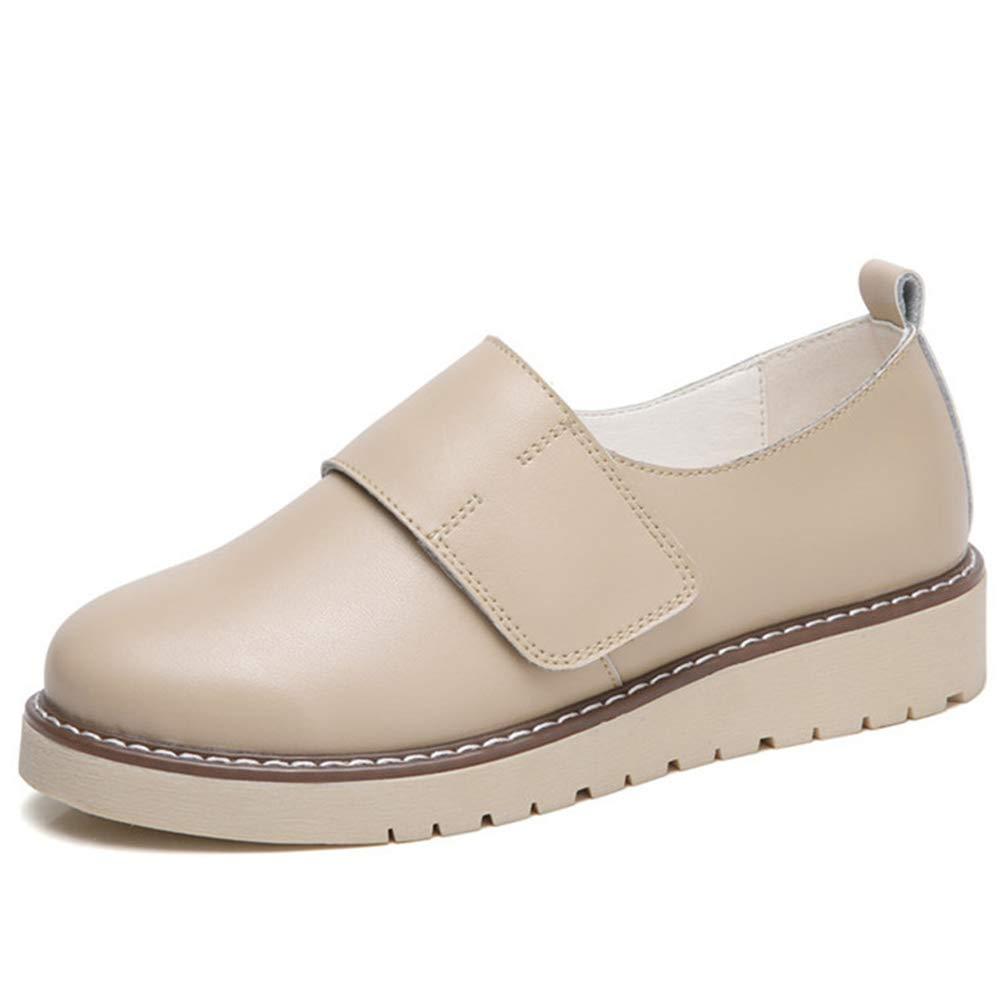 Donne Casual Scarpe in Pelle Flat Non-Slip Mocassini Donne Scarpe Sneakers  Beige