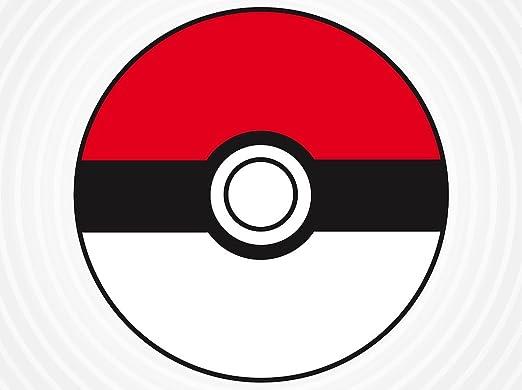 35 X Personalised Pokemon Pokeball Stickers 37cm Round Birthday