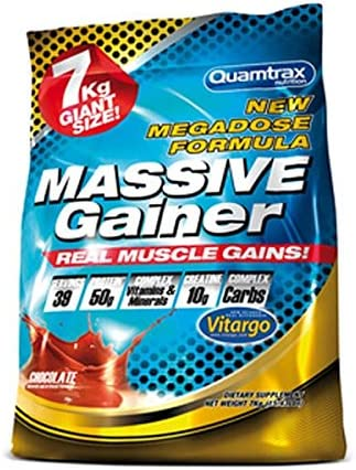 Quamtrax Massive Gainer Sabor Chocolate Blanco y Fresa - 7 Kg