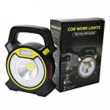 Zoostliss Powerful COB LED Portable Work Light 20W 1200Lumens with USB Work light Camping Lantern Power