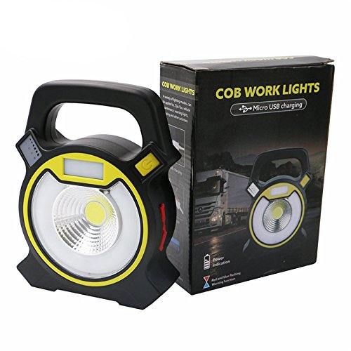 Zoostliss Powerful COB LED Portable Work Light 20W 1200Lumens with USB Work light Camping Lantern Power by Zoostliss