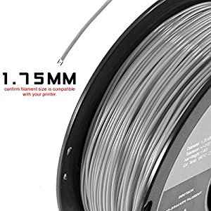 HATCHBOX Performance PLA 3D Printer Filament, Dimensional Accuracy +/- 0.03 mm, 1 kg Spool, 1.75 mm, Yellow by HATCHBOX