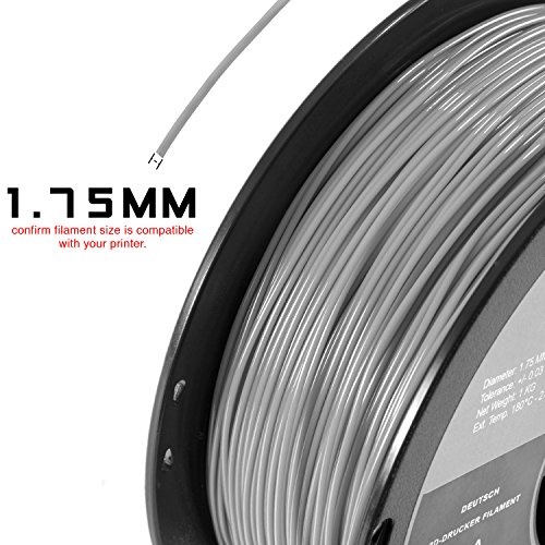 Hatchbox Pla 3d Printer Filament, Dimensional Accuracy +- 0.03 Mm, 1 Kg Spool, 1.75 Mm, Glow In The Dark