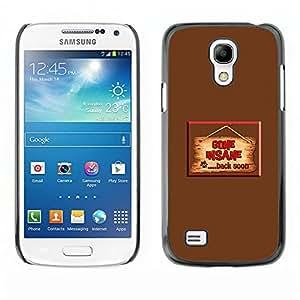 KLONGSHOP // Cubierta de piel con cierre a presión Shell trasero duro de goma Protección Caso - Traje - Samsung Galaxy S4 Mini i9190 //