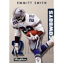 Emmitt Smith football card (Dallas Cowboys Hall of Fame) 1992 Skybox #22