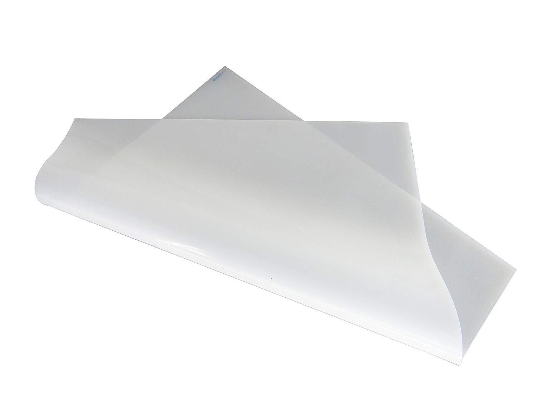 YJINGRUI 1 hoja de caucho 500 x 500 x 2 mm blanco lechoso de silicona para resistente al calor