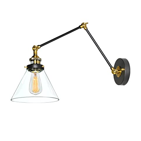 Lnc plug in wall lamp adjustable wall sconces clear glass swing lnc plug in wall lamp adjustable wall sconces clear glass swing arm sconces wall lighting mozeypictures Gallery