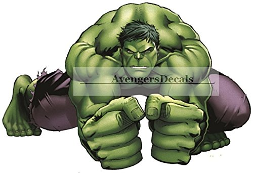 Green Incredible Hulk Marvel Avengers Bruce Banner Removable Wall Decal Sticker Home Decor 12 inch wide x 8 inch tall