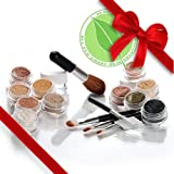 iQ Natural Mineral Sample Kit with 5 piece Black Brush Kit. Try Us Today!