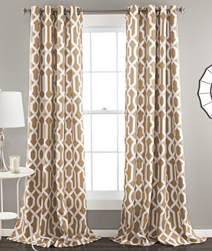 Lush Decor C32732P15-000 Edward Window Curtain Set