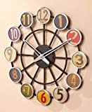UNAKIM--Retro License Plate Wall Clock Nostalgia Vintage Style Wall Art Home Decorations