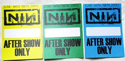 3 2005 NIN Nine Inch Nails Satin Backstage Passes Live With Teeth