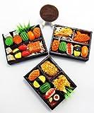 3 Mix Dollhouse miniature Sushi Bento ,Tiny Food,Barbie Collectibles,Barbie Food