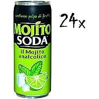 campari 24X Mojito Soda Italian Lime flavoured Change Soft Drink 330ml alcool Free.