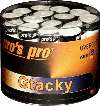 60 Griffbänder Overgrip Gtacky weiss Pro g071b