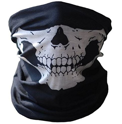 AliceInter Halloween Mask Festival Skull Skeleton Outdoor Motorcycle Bicycle Neck Warmer Scarves ()