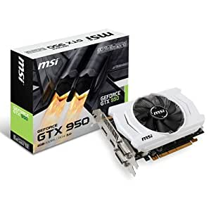 MSI NVIDIA GTX 950 2 GB GDDR5 128-Bit DL-DVI-I/HDMI/DP 3 DX12 Pci-E Graphics Card by MSI
