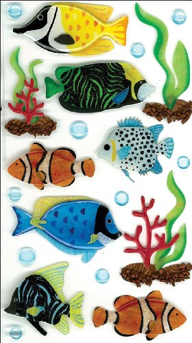 Fish Scrapbooking (Jolee's Boutique Dimensional Stickers, Tropical Fish, Large)
