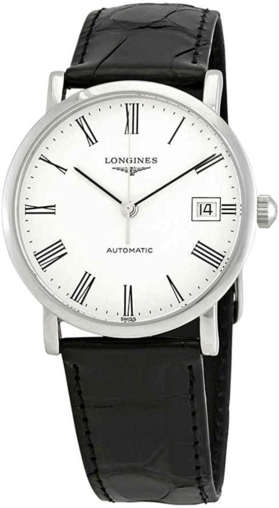Longines Elegant Collection L4.809.4.11.2 - Reloj para mujer con esfera blanca