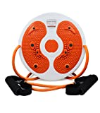 TOP YAO Figure Trimmer Foot Massage Waist Twister Simply Fit Board with Latex Pull Rope Exercise Arms Twister Exercise Balance Board Twist Board Waist Twisting Disc