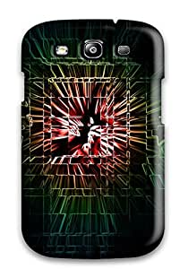 Galaxy S3 Case Cover - Slim Fit Tpu Protector Shock Absorbent Case (art)
