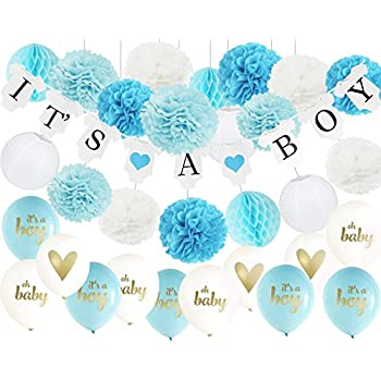 Amazon Baby Shower Decorations For Boy30pcs Its A Boy