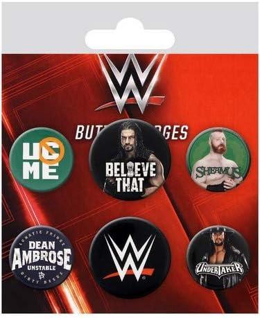 GB Eye LTD, WWE, Logos, Pack de Chapas: Amazon.es: Hogar