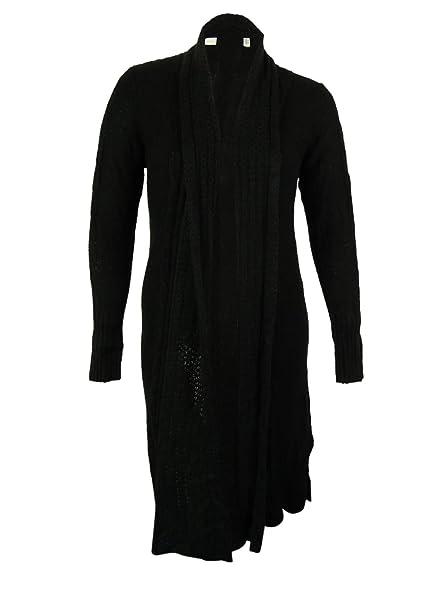 Junarose Women's Open Front Duster Cardigan (0X, Black) at Amazon ...