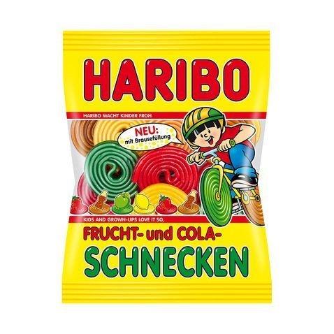 4x Haribo FRUCHT- und COLA-SCHNECKEN each Bag 200g (German ()