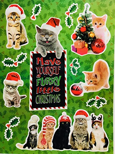 (Christmas Reusable Window Clings, Set of 3 (Cats, Lights & Snowflakes))