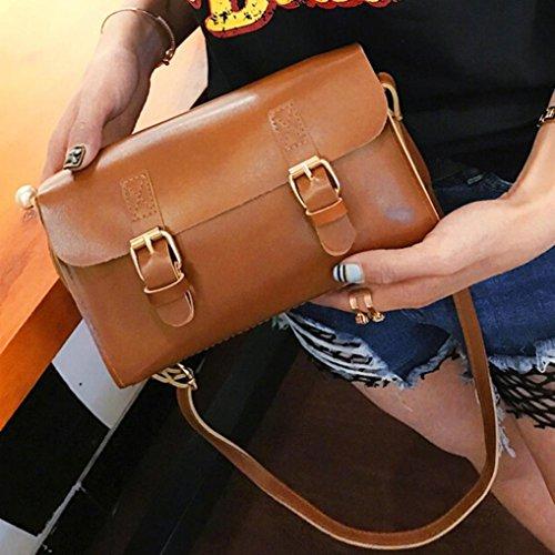 Bolsos De Pequeña Bandolera Piel De Baratos Bolso De Mano Marron Para Mujer Niñas K Por ESAILQ marrón