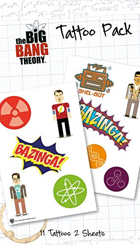 Koothrappali Costume (The Big Bang Theory Temporary Tattoos)