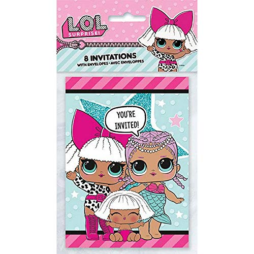 BirthdayExpress LOL Surprise Party Supplies 16 Invitations