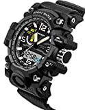 Sanda Digital Sports Watch Mens Outdoor Military Stopwatch Alarm Black