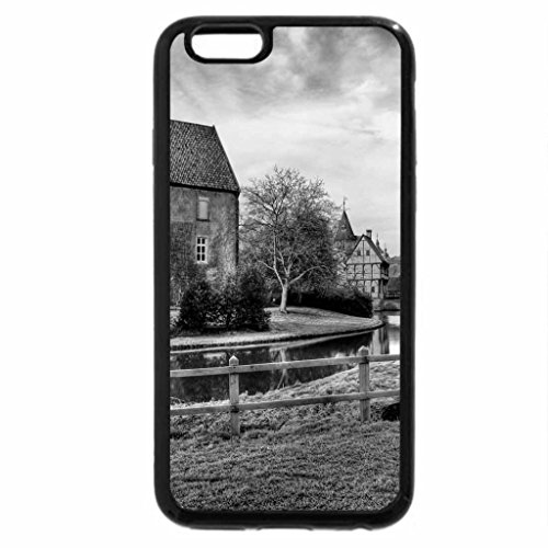 iPhone 6S Case, iPhone 6 Case (Black & White) - winter frost around the river through town