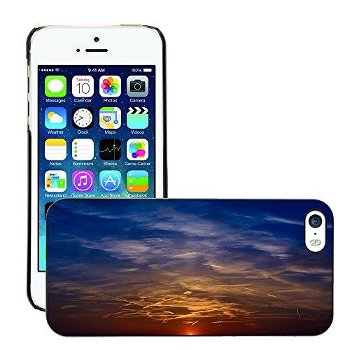 Stampato Modelli Hard plastica Custodie indietro Case Cover pelle protettiva Per // M00421733 Coucher de soleil Couleur Sky Afterglow // Apple iPhone 5 5S 5G