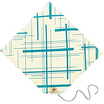 "Bee's Wrap Reusable Geometric Sandwich Wrap, Sustainable Food Storage, 13"" x 13"""