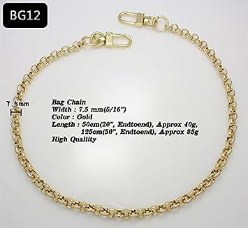 k-craft BG12 50cm Purse Metal Chain Strap Replacement Gold Crossbody Shoulder Strap Handbag