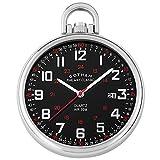 Gotham Men's Stainless Steel Analog Quartz Date Railroad Style Pocket Watch # GWC14107SB