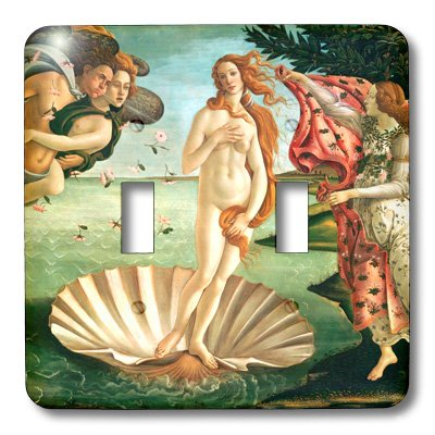 3dRose lsp_162552_2 Botichelli The Birth of Venus 1485 Famous Classic Art by Italian Masters Ocean Sea Shell Masterpiece Light Switch Cover