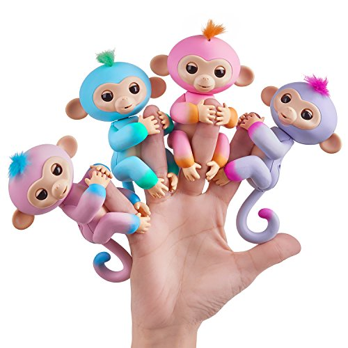 WowWee Fingerlings Interactive Baby Monkey Puppet, Candy-2Tone (Pink to Turquoise)